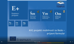 Video upustva za popunjavanje prijemnih formulara za projekte KA1 mobilnosti za škole